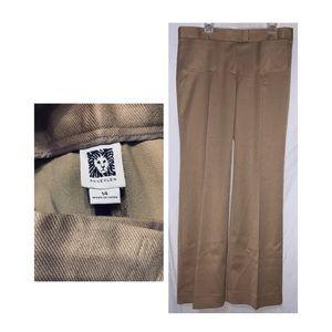 Anne Klein Polyester Rayon Blend Tan Pants Size 14